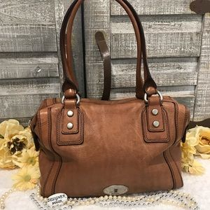 FOSSIL Marlow Leather Satchel GUC! ZB 5575 Tan